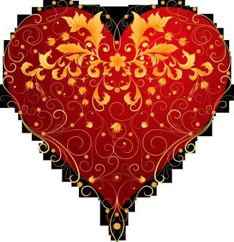 Яркая картинка с сердечком