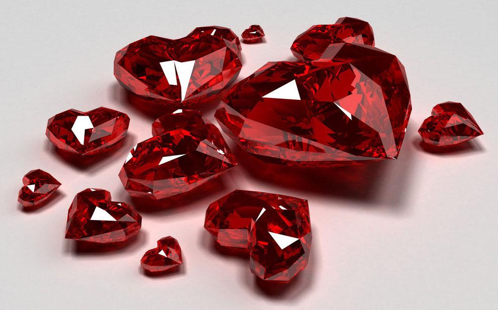 Рубиновые камни изумительно красивой