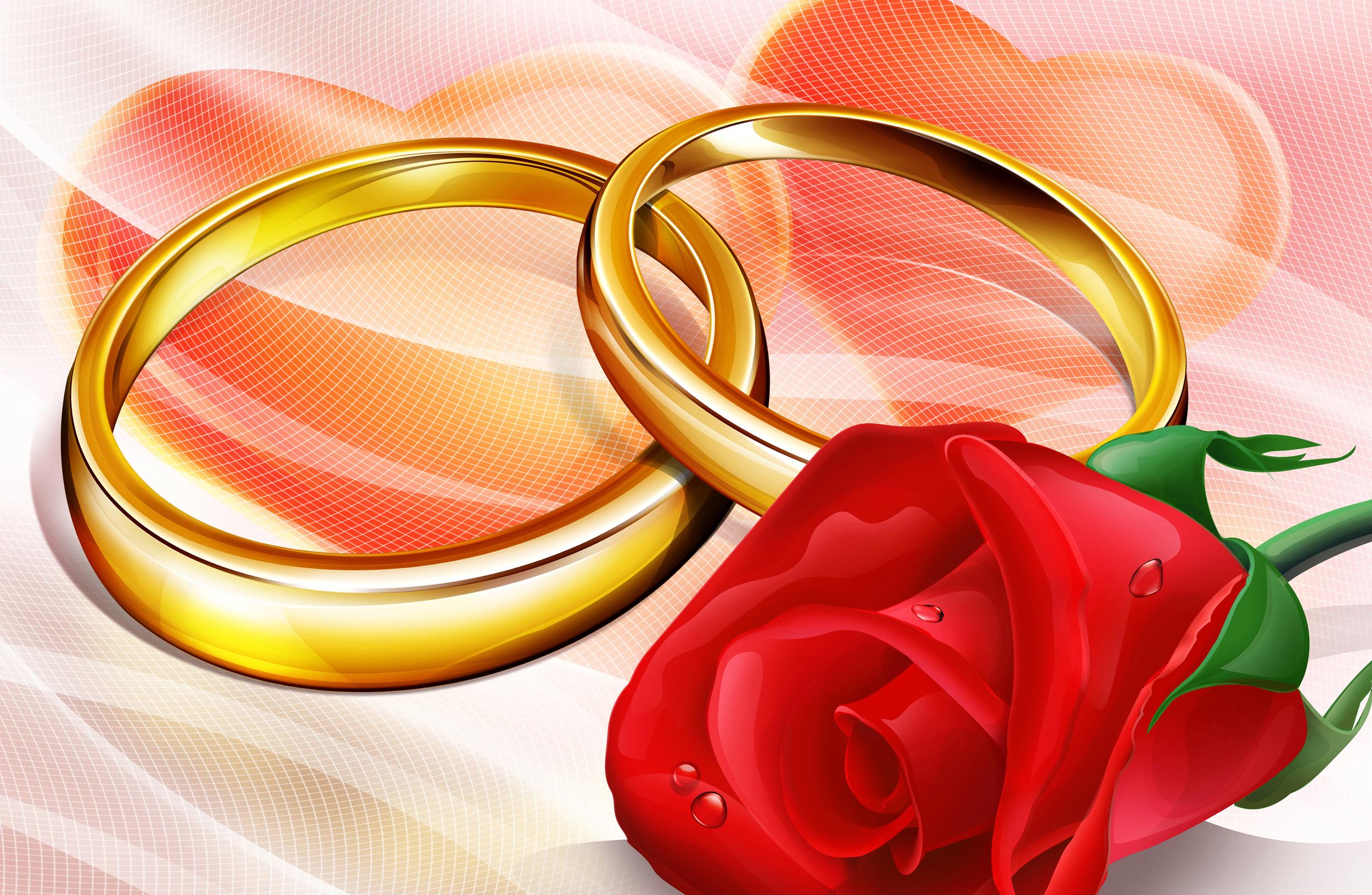 Свадебные кольца для открыток 571