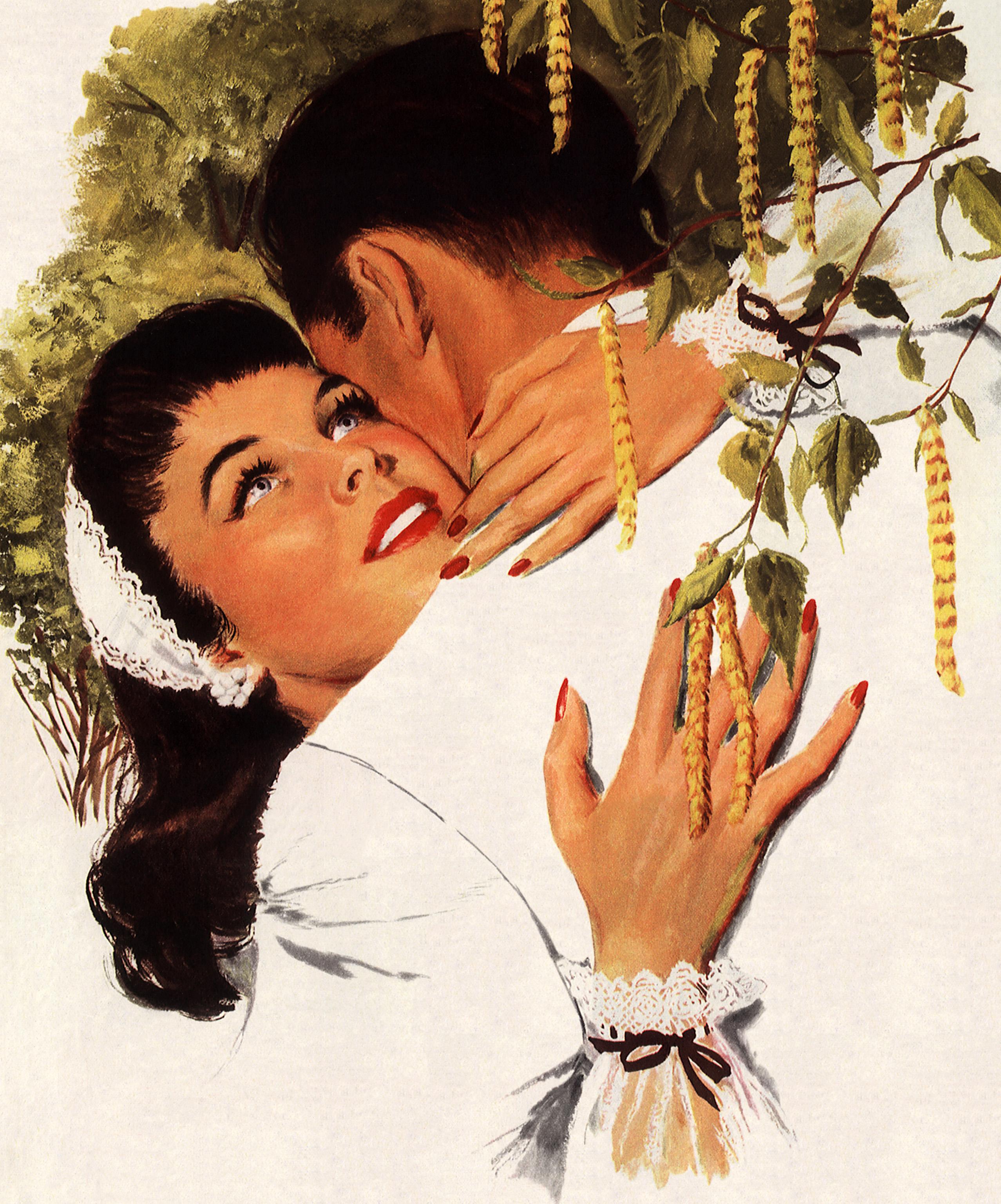 Фото пары целуются