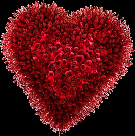 Картинки сердечко из цветов
